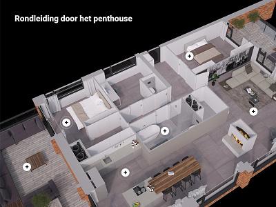 Apartment tour tooltip 3d living hotspot interactive tour