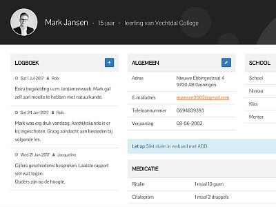 Student dashboard bootstrap tables data log dashboard