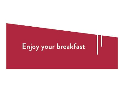 Breakfast Voucher minimal paper voucher hotel