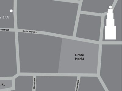 'Where to find us' plan floor map city