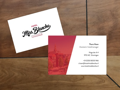 Hotel business card hotel card business