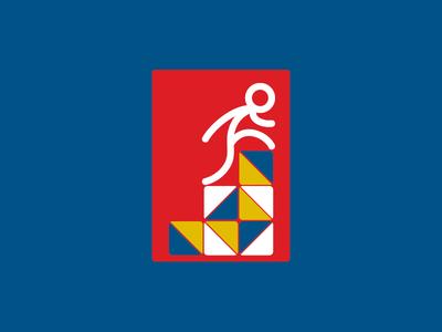 Steps of creativity — logotype design. cool brand construction young freelance identity agency designer logotype logo