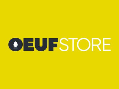 Oeuf (egg) store — logotype design. cool brand construction young freelance identity agency designer logotype logo