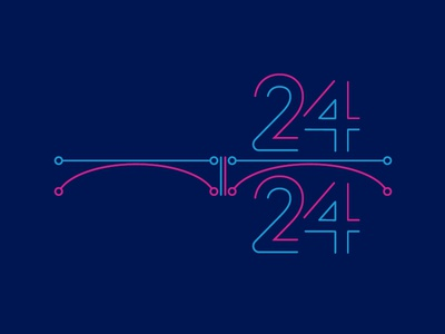 Krasnoyarsk Hackathon 24/24 — logo design. designinspiration logoinspire designers creatives creative logotypedesign logotype branding brandidentity brand a4create graphicdesign