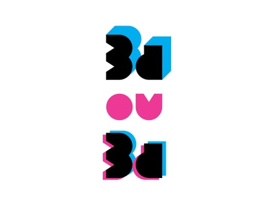 3d or 3d — logotype–illustration.
