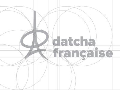 Datcha Française Logotype (Construction) brandidentity branding logo construction cool freelance brand logotype