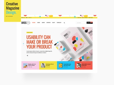 Creative Magazine colorful blog design blogger creative blog uiux modern design wordpress magazine design magazine creative blog