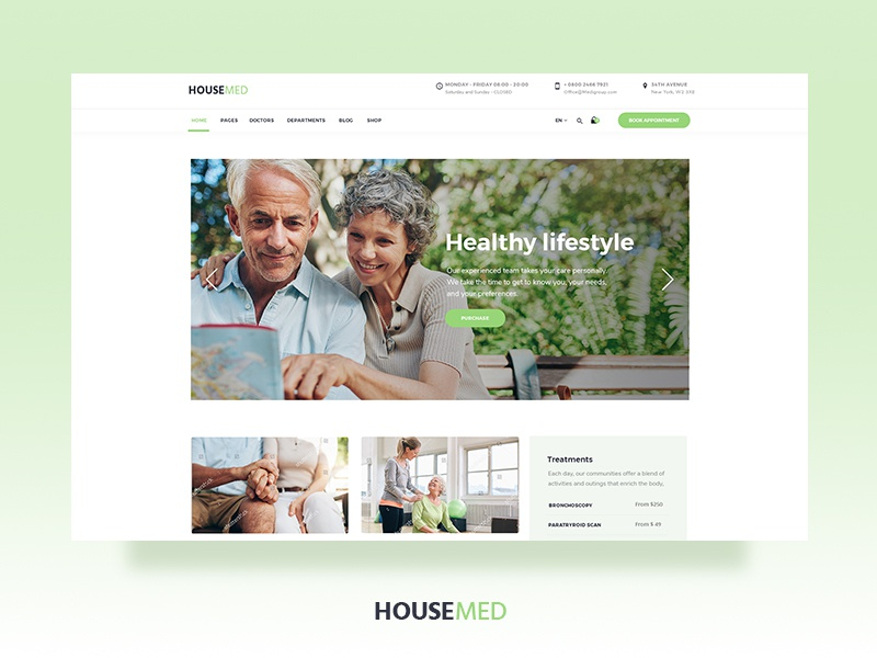 Housemed schedule uiux theme design wordpress timetable physiotherapy physician pediatrician ophthalmologist modern medicine medical hospital health care health doctor appointment doctor dentist clinic
