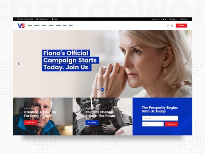 VoteStart modern uiux design theme wordpress vote politics politician political party political leader political candidate political campaign political government election donation donate candidate campaign activism