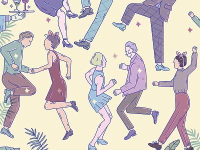 Harlem Jazz festival america color line illustration editorial lindyhop music poster festival dance jazz