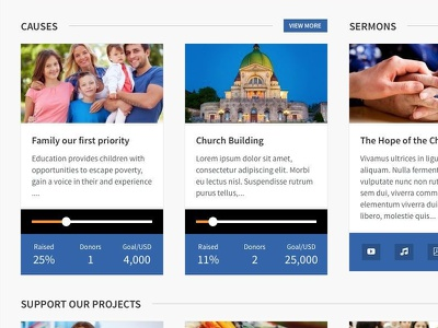 Benevolence church basilica non-profit foundations causes sermons spnsors