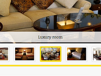 Slider for a hotel website