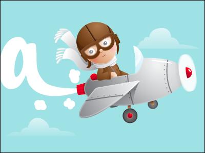 Eggstravaganza Progress illustration vector art digital illustration fun cartoon pilot airplane