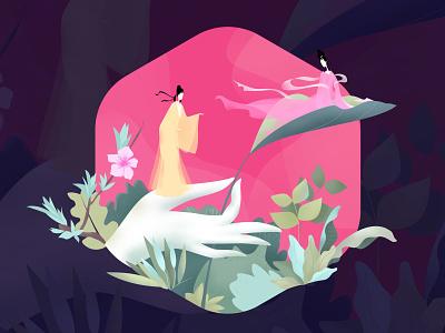 lovers lovers flower love logo illustration