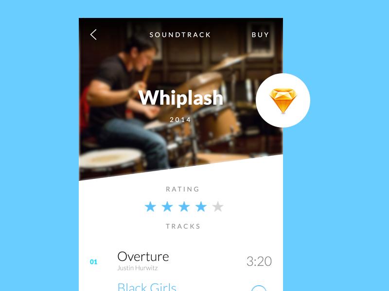 Soundtrack Playlist App free resource sketch app ui music playlist movies