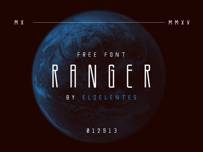 Ranger Free Font condensed bold typography typeface type font free