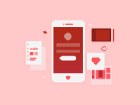 App Design Illustration