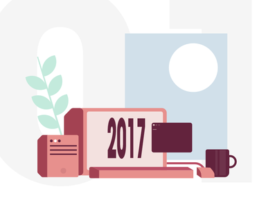 Hello 2017 illustration year new 2017