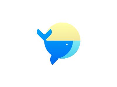 Whale Illustration minimal circle blue illustration whale