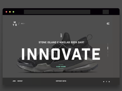 Innovate modern gray product landing footwear