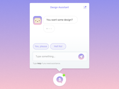 Our Bot calm gradient online chat bot