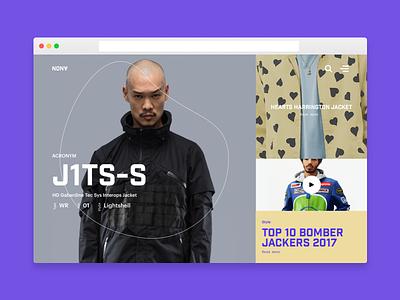 Anon Theme tech minimalism concept fashion editorial theme