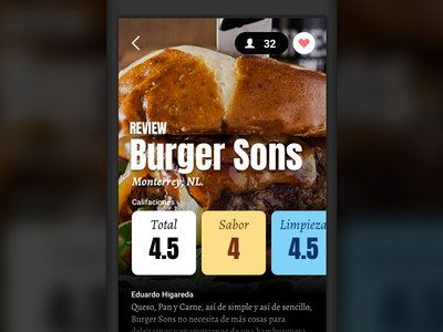 Fooders bold minimal colors ui ios food review