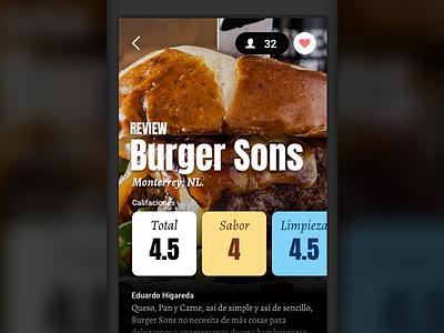 Fooders bold minimal colors ui ios food review