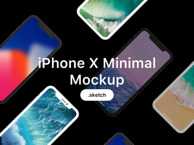 Iphone X Minimal Mockup apple ios11 screen clean minimal template mockup