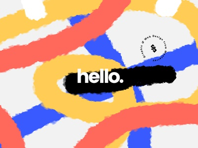 Hello Again exploration colors lines hello abstract