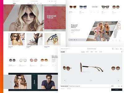 Cubic-sunglasses store design online store sunglasses store e-commerce design uiux design