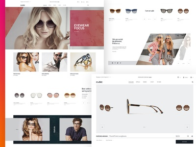 Cubic-sunglasses store design online store sunglasses store e-commerce design uiux design