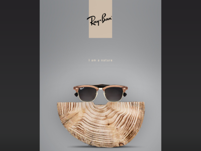 RayBan advertising sunglasses design creative advertising banner e-commerce