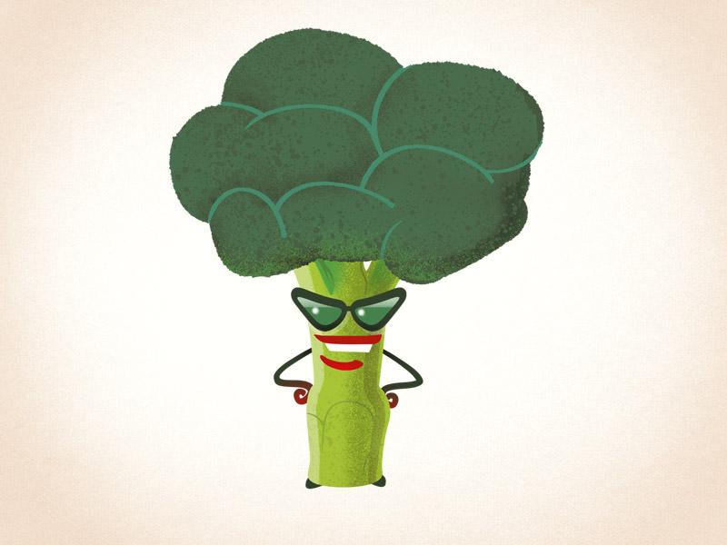Beatrice vegetable humor retro funny humour cartoon character design drawgood illustration