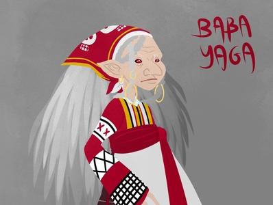 The Hair rope : Baba Yaga mythology russian folklore witch comic art character design illustration