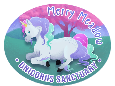 Merry meadow : Unicorns sanctuary illustration fantasy art unicorn medibang