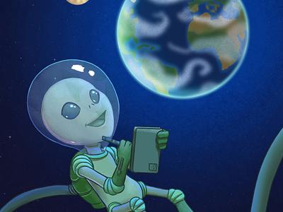Clip Studio Paint: Cutest galaxy contest galaxycutest clip studio paint contest illsutration planet alien