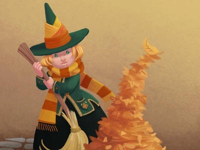 The Little Witchtober 1 character design clip studio paint illustration witch