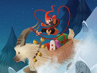 Merry Christmaaaaaaas!!! clip studio paint christmas card