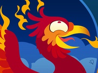Silly Bestiary : The Firechick... I mean Phenix