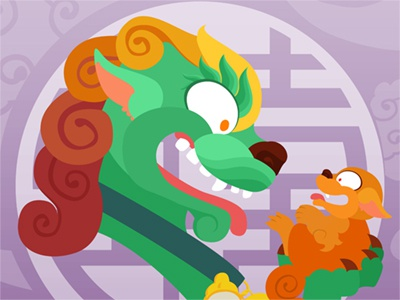 Silly Bestiary : Mama Fu (and Jr)