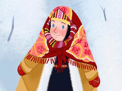 Anka in the snow
