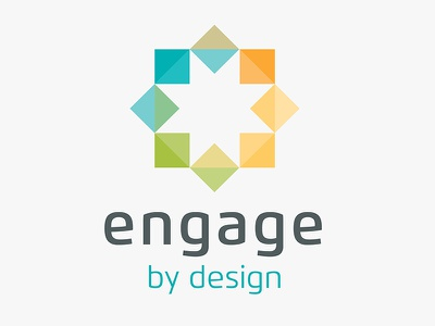 Engage By Design Logo sustainable logo colourful triangle star