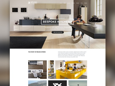 Bruno Interni Concept 1 interior interior design website grid web design architecture