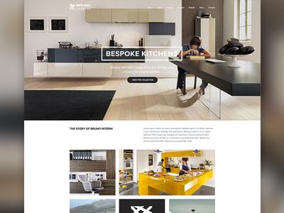 Bruno Interni Concept 1 interior interior design website grid web design architecture