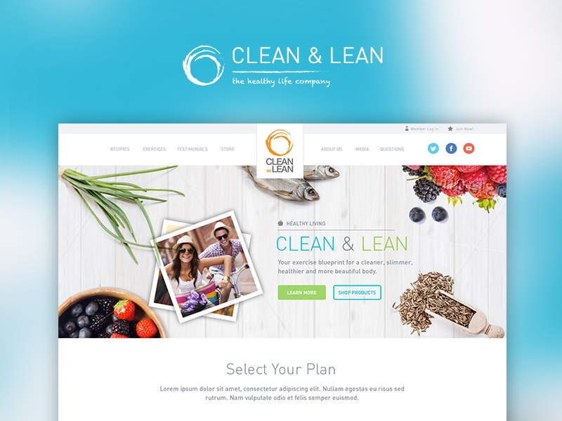 31 clean and lean homepage concept
