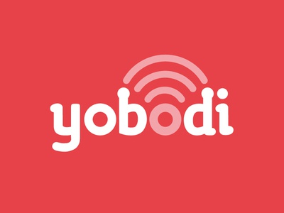 Yobodi Logo Concept logo digital wifi antenna ariel communication brand fun rounded
