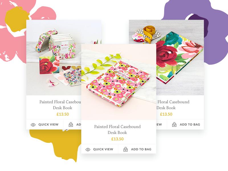 Caroline Gardner Product Cards floral cards e-commerce product caroline gardner