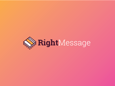 RightMessage Logo layers gradient logo rightmessage