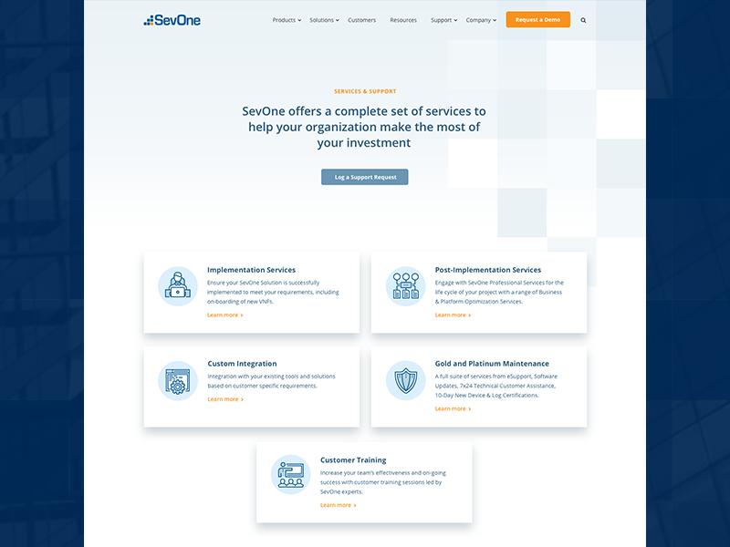 SevOne Support Page corporate it tech services sevone